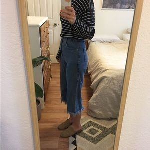ASOS Wide Leg Crop Denim